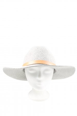 H&M Felt Hat light grey-natural white casual look