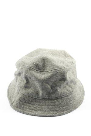 H&M Vilten hoed lichtgrijs gestippeld casual uitstraling