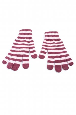 H&M Gloves white-pink striped pattern casual look