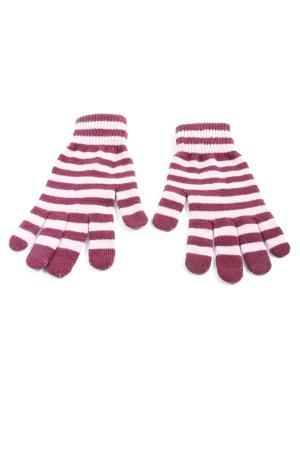 H&M Gant à doigts blanc-rose motif rayé style décontracté
