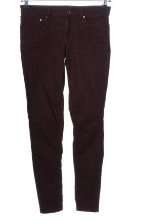 H&M Pantalone cinque tasche marrone stile casual