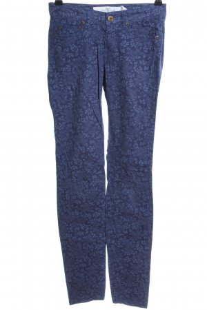H&M Five-Pocket-Hose blau Blumenmuster Casual-Look