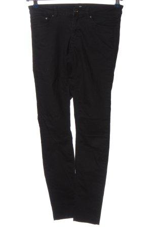H&M Pantalón de cinco bolsillos negro look casual