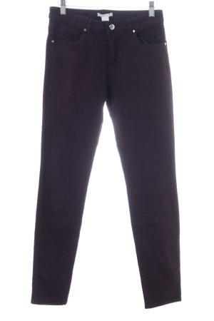 H&M Five-Pocket-Hose lila Casual-Look