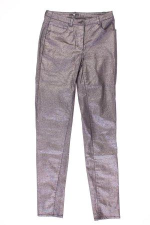 H&M Pantalon cinq poches argenté coton