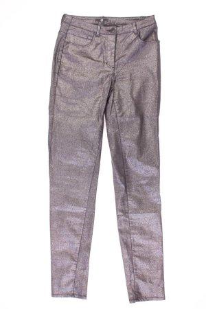 H&M Five-Pocket-Hose Größe 34 mit Glitzer silber aus Baumwolle