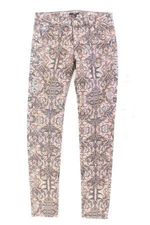 H&M Five-Pocket-Hose Größe 40 geometrisches Muster mehrfarbig aus Baumwolle