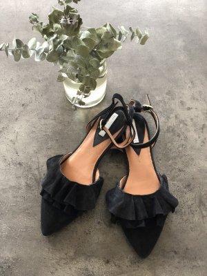 H&M Ballerina con cinturino nero