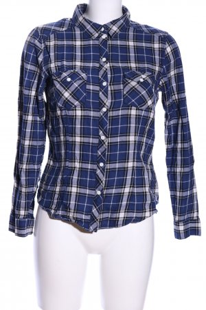 H&M Flannel Shirt blue-white allover print casual look