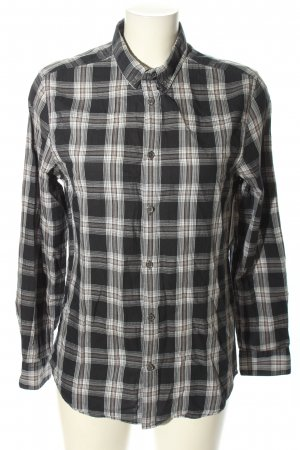 H&M Flannel Shirt light grey check pattern casual look