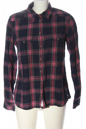 H&M Flannel Shirt blue-pink allover print casual look