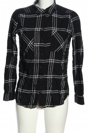 H&M Flannel Shirt black-white check pattern casual look