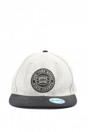 H&M Flatcap hellgrau-schwarz Casual-Look