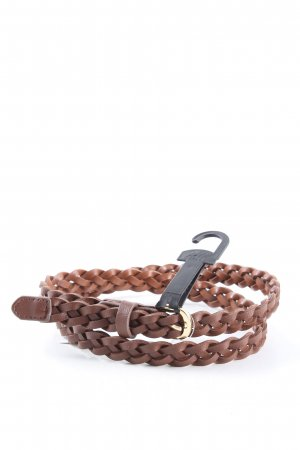 H&M Cinturón trenzado marrón estilo «business»