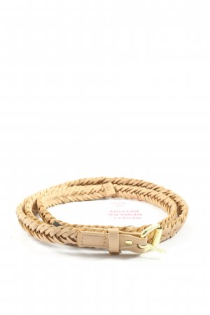 H&M Braided Belt cream casual look
