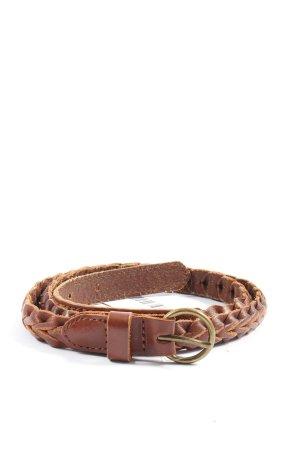 H&M Pleciony pasek brązowy W stylu casual