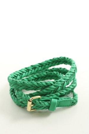 H&M Flechtgürtel grün-goldfarben Casual-Look