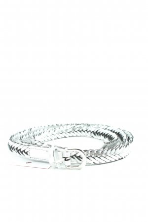 H&M Braided Belt silver-colored cable stitch casual look