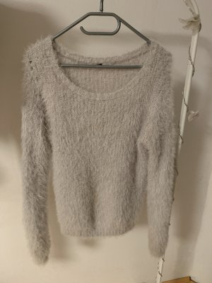 H&M Sudadera de forro blanco-gris claro