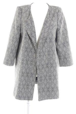 H&M Płaszcz polarowy jasnożółty-czarny Nadruk z motywem