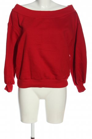 H&M Pullover in pile rosso stile casual
