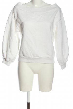 H&M Pullover in pile bianco stile casual