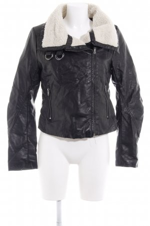 H&M Flight Jacket black-oatmeal classic style