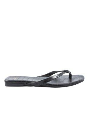 H&M Flip Flop Sandalen schwarz Animalmuster Casual-Look