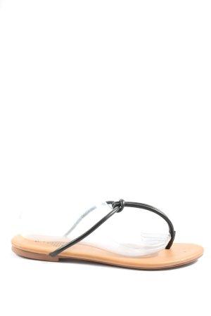 H&M Flip flop sandalen room-zwart casual uitstraling