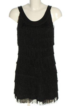 H&M Vestido con flecos negro look casual
