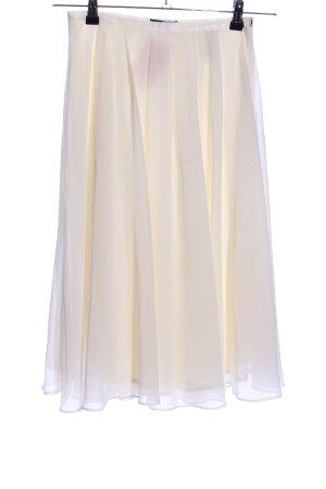 H&M Falda con flecos blanco puro elegante