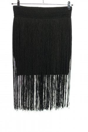 H&M Fringed Skirt black classic style
