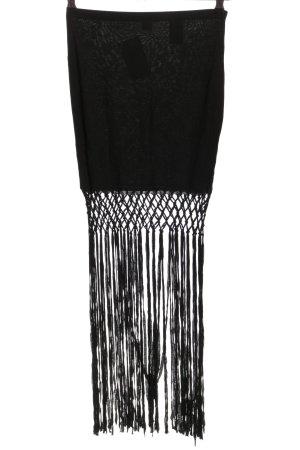 H&M Jupe à franges noir style décontracté