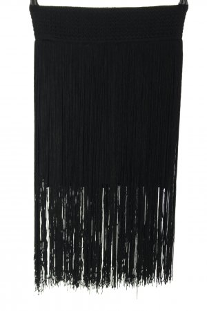 H&M Spódnica z frędzlami czarny W stylu casual