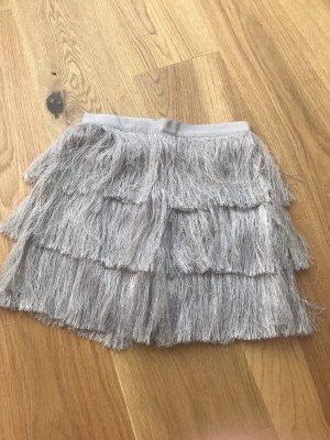 H&M Fringed Skirt purple