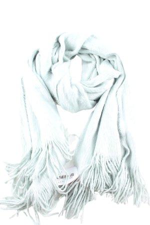H&M Bufanda de flecos turquesa look casual