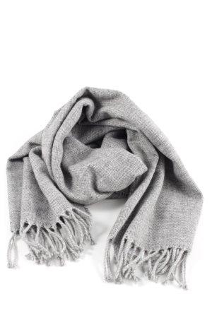 H&M Fransenschal hellgrau meliert Business-Look