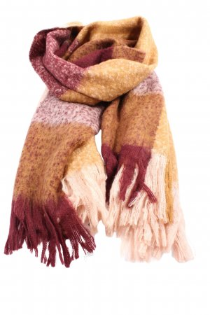 H&M Fringed Scarf pink-light orange striped pattern casual look