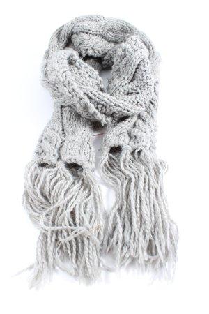 H&M Bufanda de flecos gris claro punto trenzado look casual