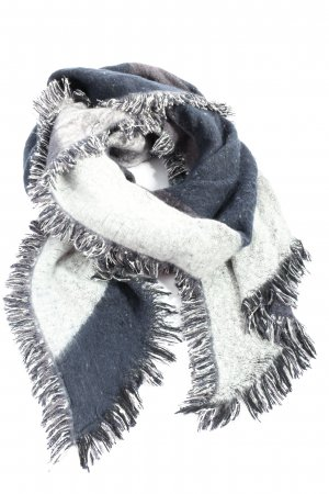 H&M Fringed Scarf blue-white casual look