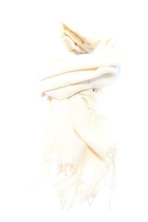 H&M Bufanda de flecos crema look casual