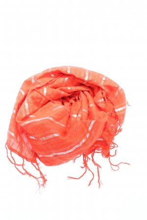 H&M Fringed Scarf red casual look