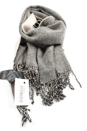H&M Bufanda de flecos gris claro moteado look Street-Style