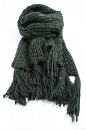 H&M Fringed Scarf green casual look
