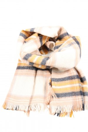 H&M Fringed Scarf check pattern casual look
