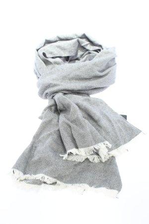 H&M Bufanda de flecos blanco-gris claro moteado look casual