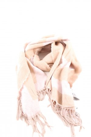 H&M Bufanda de flecos crema-blanco look casual