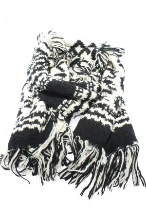 H&M Fringed Scarf white-black casual look