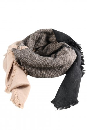 H&M Fringed Scarf black-natural white business style
