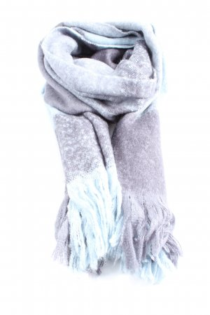H&M Fringed Scarf light grey-turquoise flecked casual look